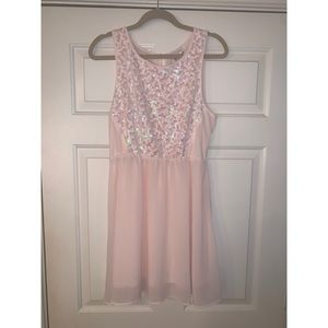 H&M Dress with Flower Sparkles on front